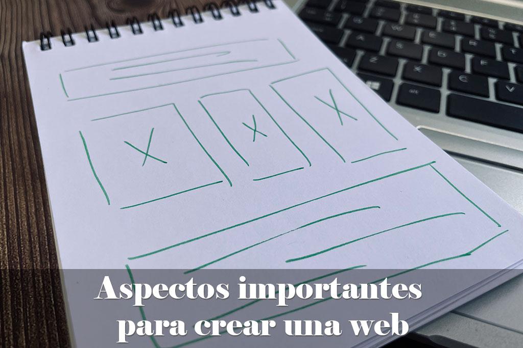 Aspectos importantes para crear una web